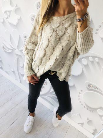 sweter HULL beż