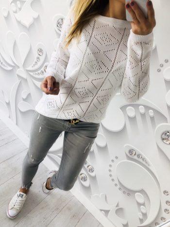 sweter BLESS white