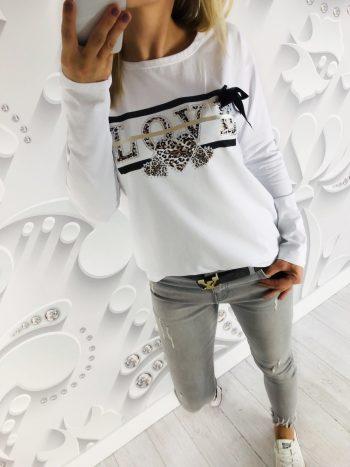 bluzka LOVE white