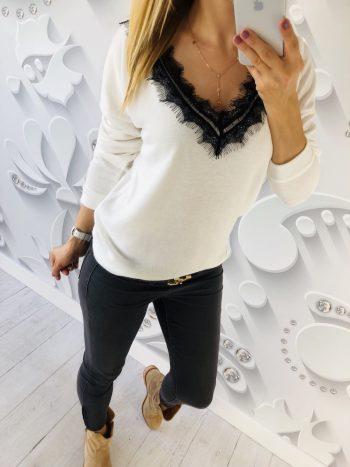sweter NOLE biały