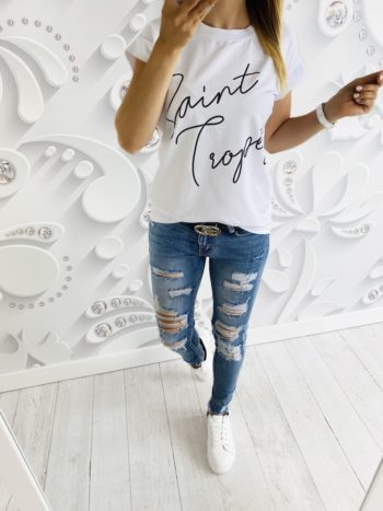 t-shirt STROPE white