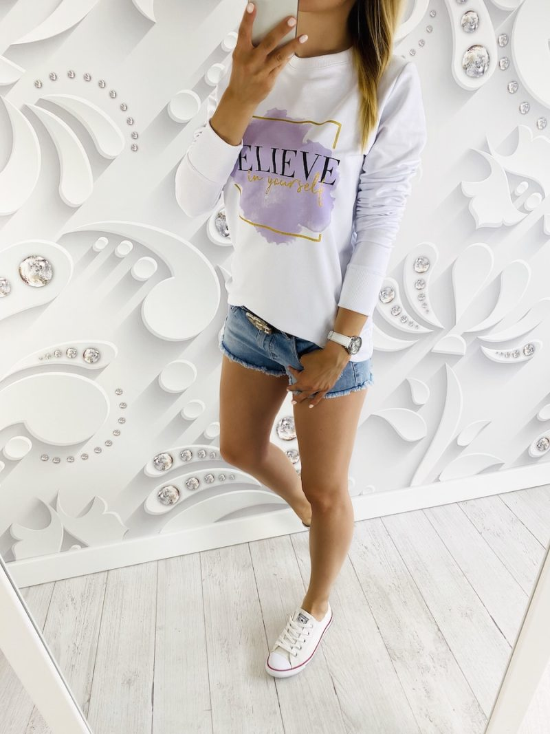 bluza BELIEVE white