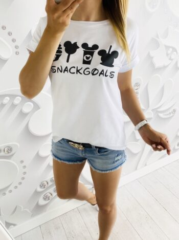 t-shirt SNACK white