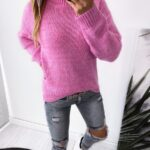 sweter JERSEY pink