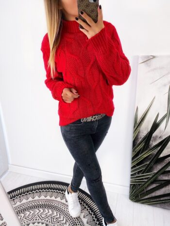 sweter REVIE red
