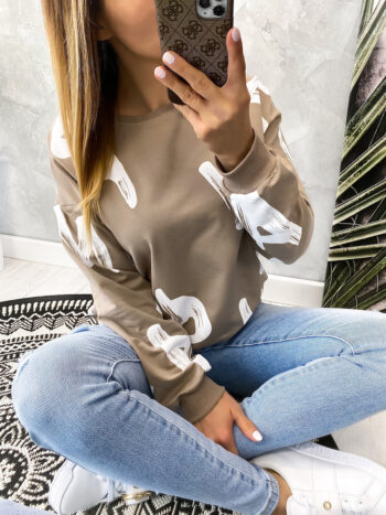 bluza LETTERS beige