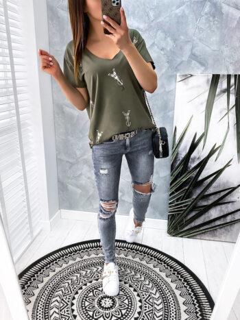 bluzka YSL khaki
