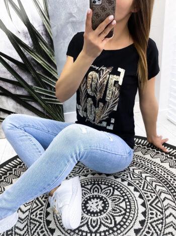bluzka LOVE black