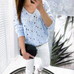 sweter VINCE blue