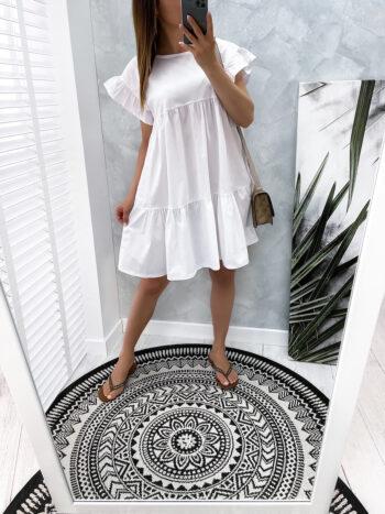 sukienka SEMI white