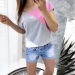 bluzka TRIO pink/gray