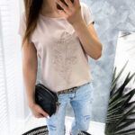 bluzka LEAF3D beige