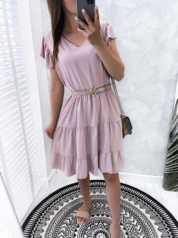 sukienka DOTSY puder