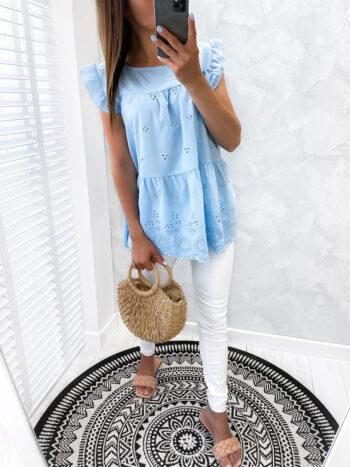 bluzka w stylu BOHO blue