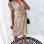 sukienka FLAKES carmel