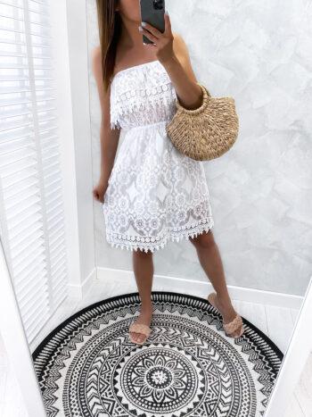 sukienka LOREN white