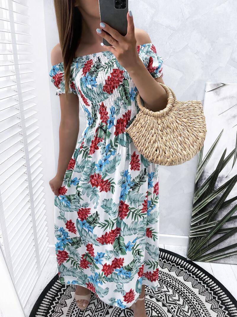 sukienka FLOWERS maxi bright