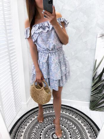 sukienka KYLIE flowers gray