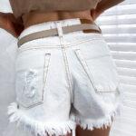 spodnie SEMPRE ripped white