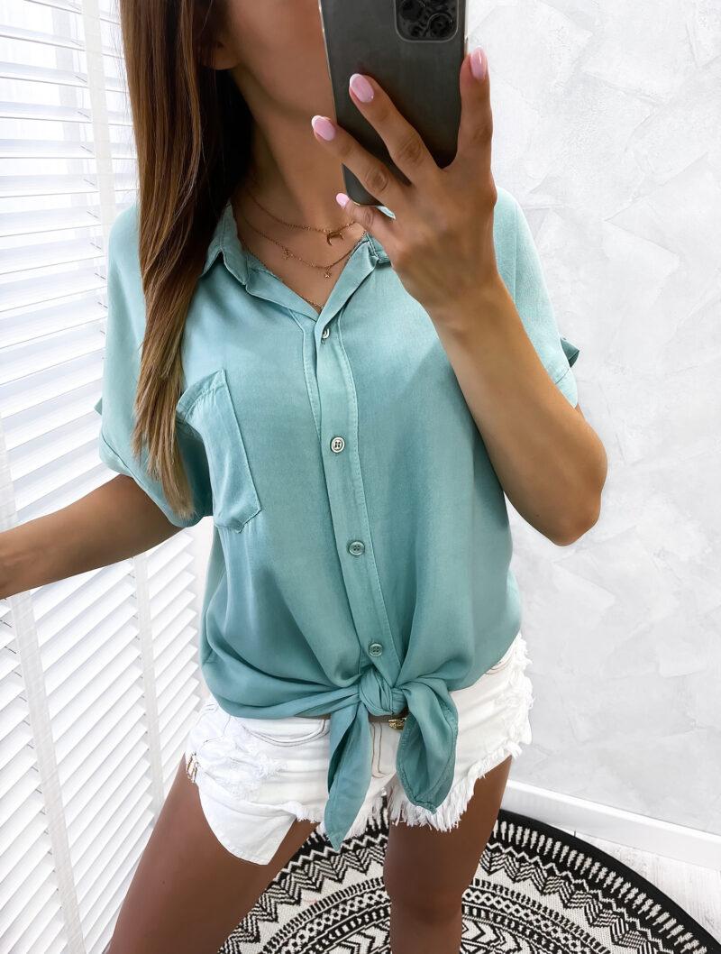 wiązana koszula GREEN
