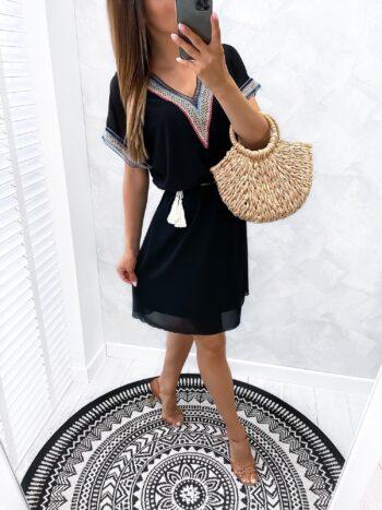sukienka BOHO style black