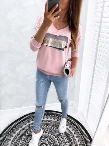 bluzka BE YOU pink