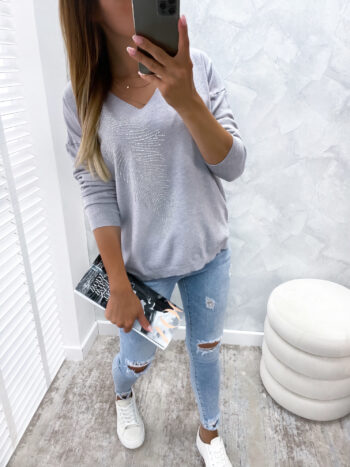 sweter SEQUINS gray