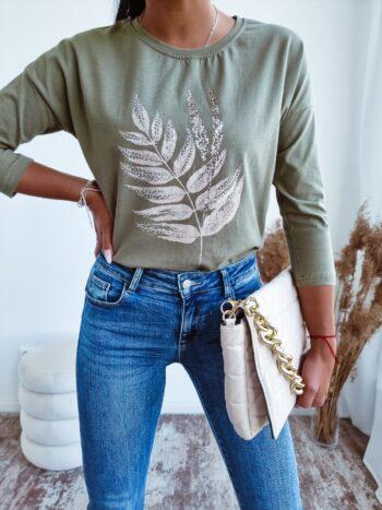 bluzka LEAVES khaki